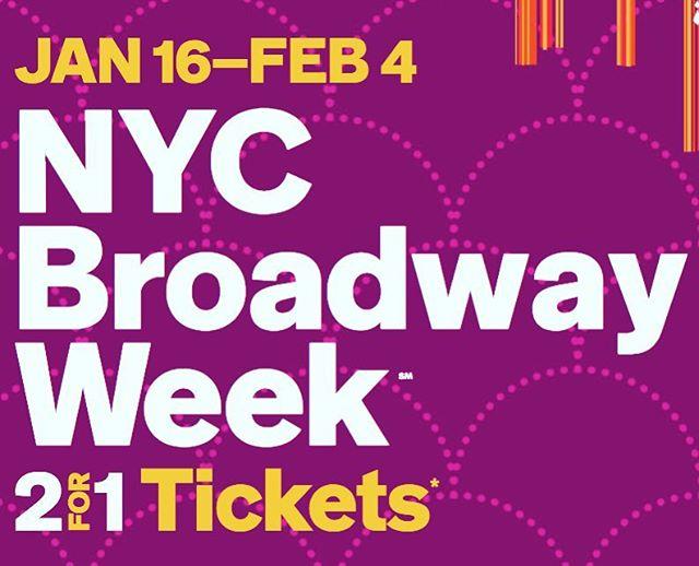 🇧🇷 Começa hoje o Broadway Week NYC de inverno, onde você garante 2 ingressos pelo preço de 1 para shows entre os dias 16/jan e 4/fev. Tem de tudo, Alladin, O Fantasma da Ópera, Chicago, Anastasia, O Rei Leão e vários outros e você pode ainda, garantir melhores assentos por $20 extra por ingresso. Compre os seus em nycgo.com/broadway-week Have fun =) #nycgo #broadwaymusical 🇺🇸 Broadway week is here! With 2 for 1 tickets and upgrades at $20 per ticket! Enjoy 😉 . . #nyc #newyork #ny #manhattan #iloveny #bigapple #newyorker #ig_nyc #instagramnyc #what_i_saw_in_nyc #nyclife #nycblogger #newyorklife #novayork #novaiorque #nyctips #newyorkcity #dicasny #nyc🗽#lovenyc #roteironovayork