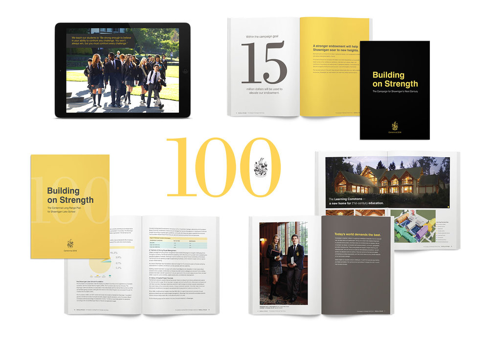 Here's a glimpse of the business system, campaign brand identity, case statement, development presentations, and long range plan our creative agency developed for Shawnigan Lake School.