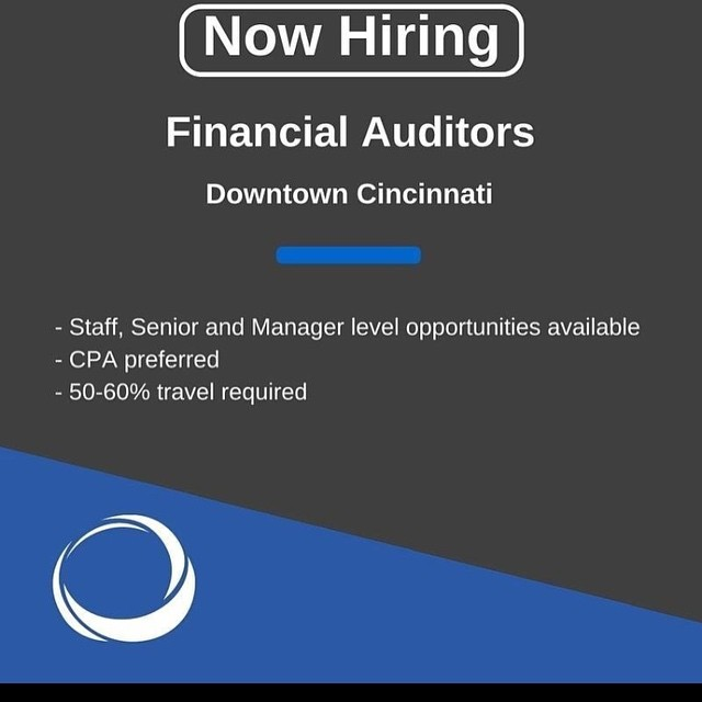 Now hiring #FinancialAuditors in the #Cincinnati area. Staff, Senior, and Manager level positions open! Check all our available openings at http://aquarius-staffing.com/job-seekers/