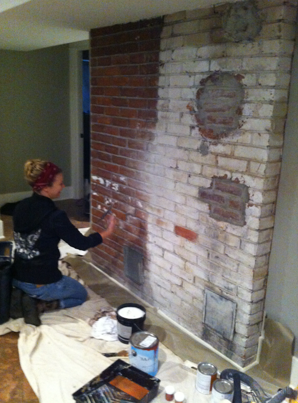 Painting a custom mural on brick