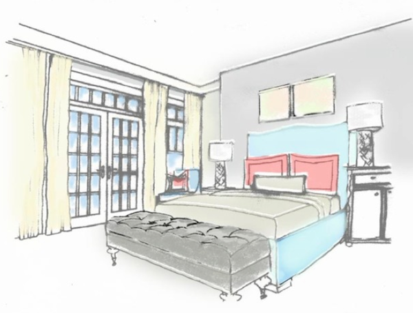 interior design hand drawings bedroom decor ideas incorporating gray i - Interior Design Sketches