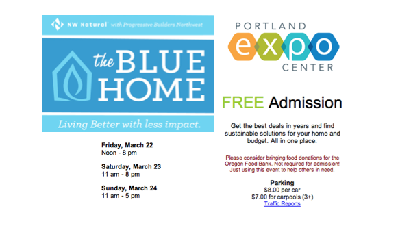 2013 better living show, blue home 2013, Portland Expo center events