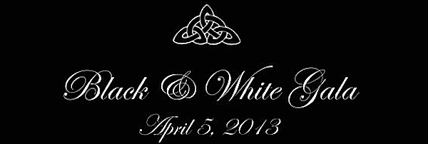 black and white gala logo, HBF black and white gala