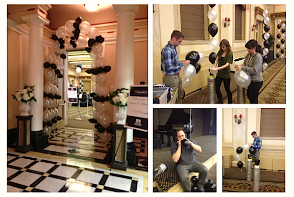 decorating for a black and white gala, garrison hullinger interior design