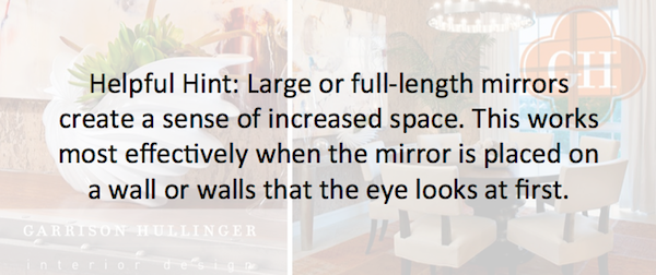 tips for having full-length mirrors, how a big mirror can make your space seem bigger