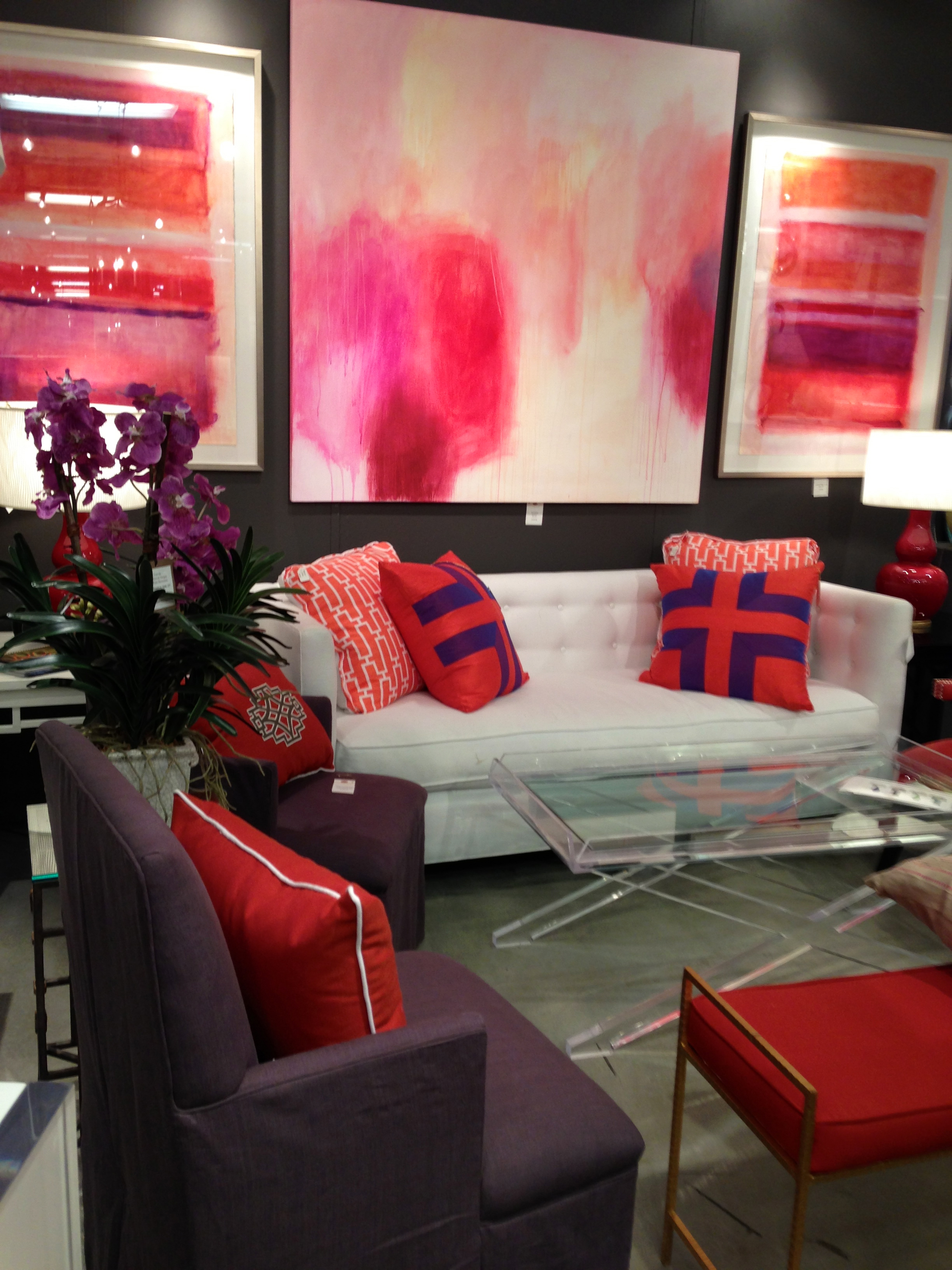 coral trend at highpoint market, bright showrooms from highpoint market