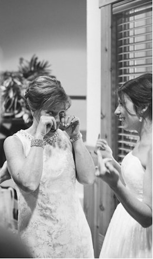 lisa and her mom on her wedding day, interior designer being inspired by her mom