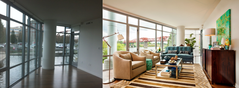 Interior Designers Work In Portland, Before And After Shots, Photos Of An Interior  Designers