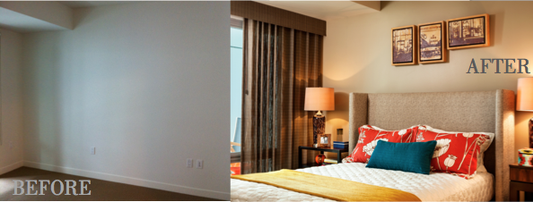 gorgeous finished design project, before and after, garrison hullinger finished projects