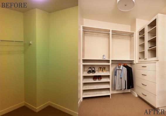portland custom closet ideas, inspiration for built ins, condo design incentives program