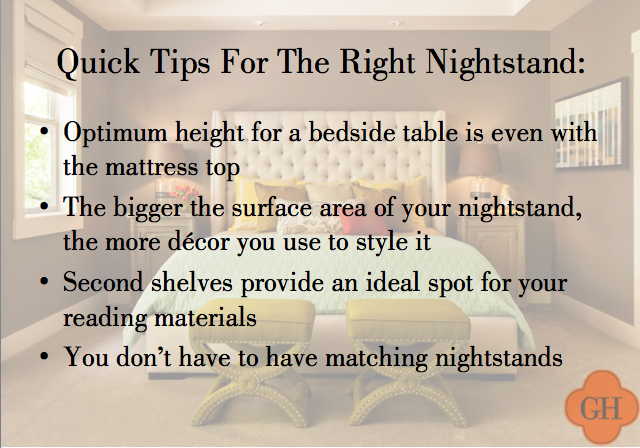 the right way to decorate your nightstand, nightstand tips, bedside tips and tricks