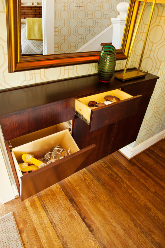 storage solutions, keeping clutter out of entry ways, benefits of working with an interior designer