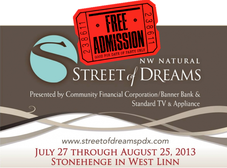 street of dreams, 2013 street of dreams tickets, free street of dreams tickets