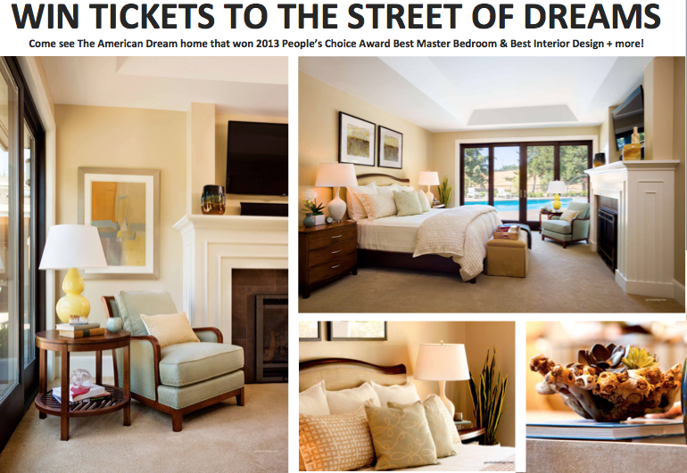 free tickets to the street of dreams, street of dreams, best interior design on the street of dreams