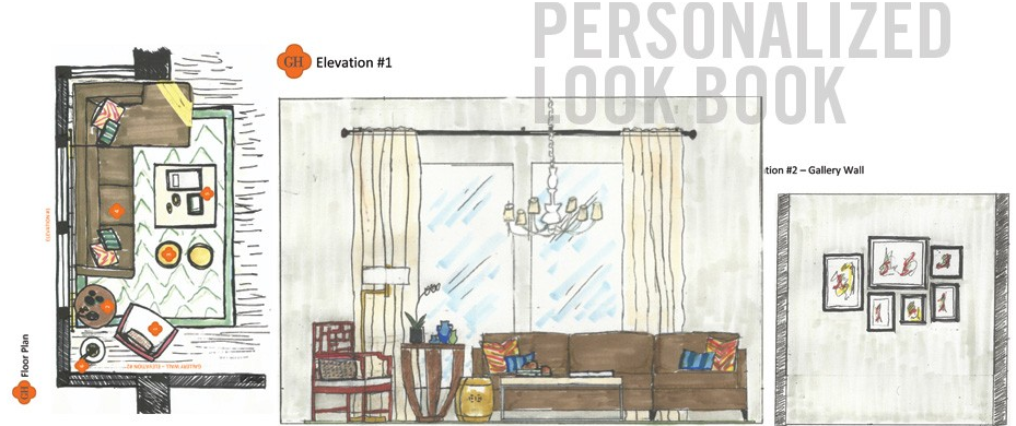 unique interior design gifts, online interior design services, at a distance design services