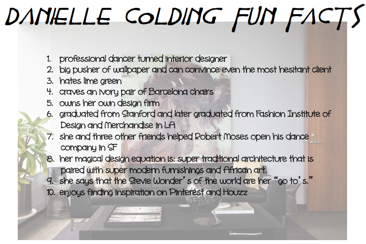 10 fun facts about danielle colding, interior designers in NYC, garrison hullinger interior desing