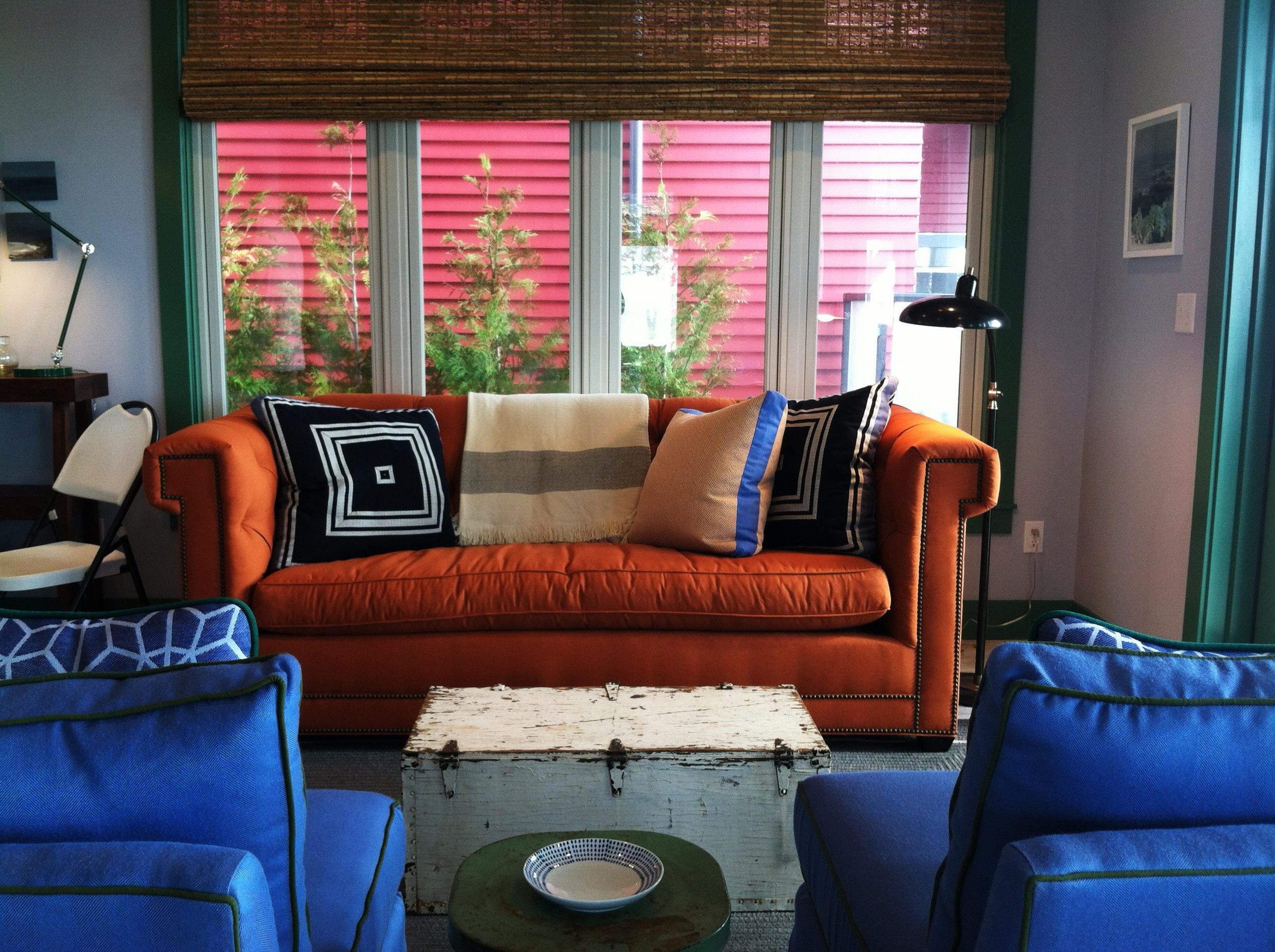 orange interior designs, bold colors, bright interior decor