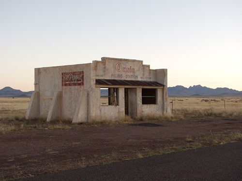 Oasis Gas Station, Mike Price photography, abandoned gas stations