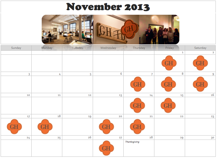 monthly review, a recap of what interior designers do, a month in review