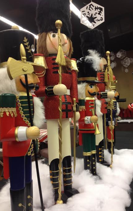close up of nutcrackers, holiday decor, christmas nutcrackers