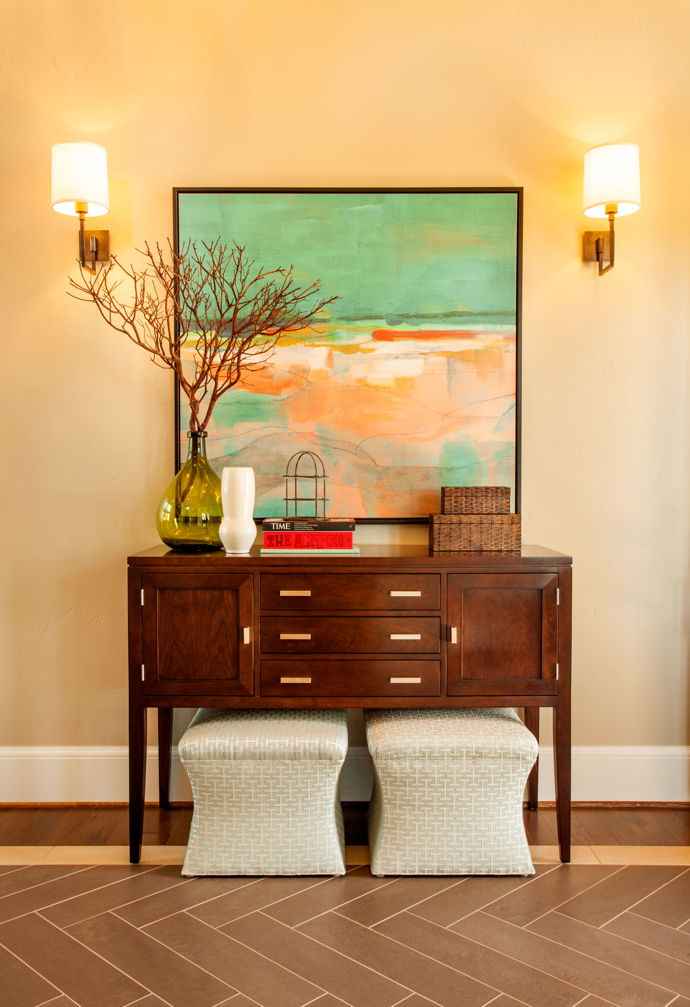inspiraiton for entryway designs, bright entryways, inspiration for bright artwork