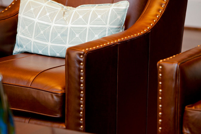design details, the importance of being detailed in your design, leather chairs