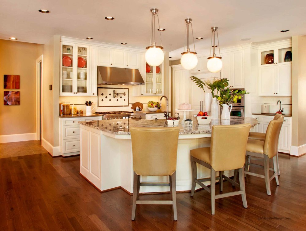 attractive Kitchen Remodel Must Haves #4: Bright Kitchen Design Ideas, white kitchen cabinets, the perfect balance in  a kitchen