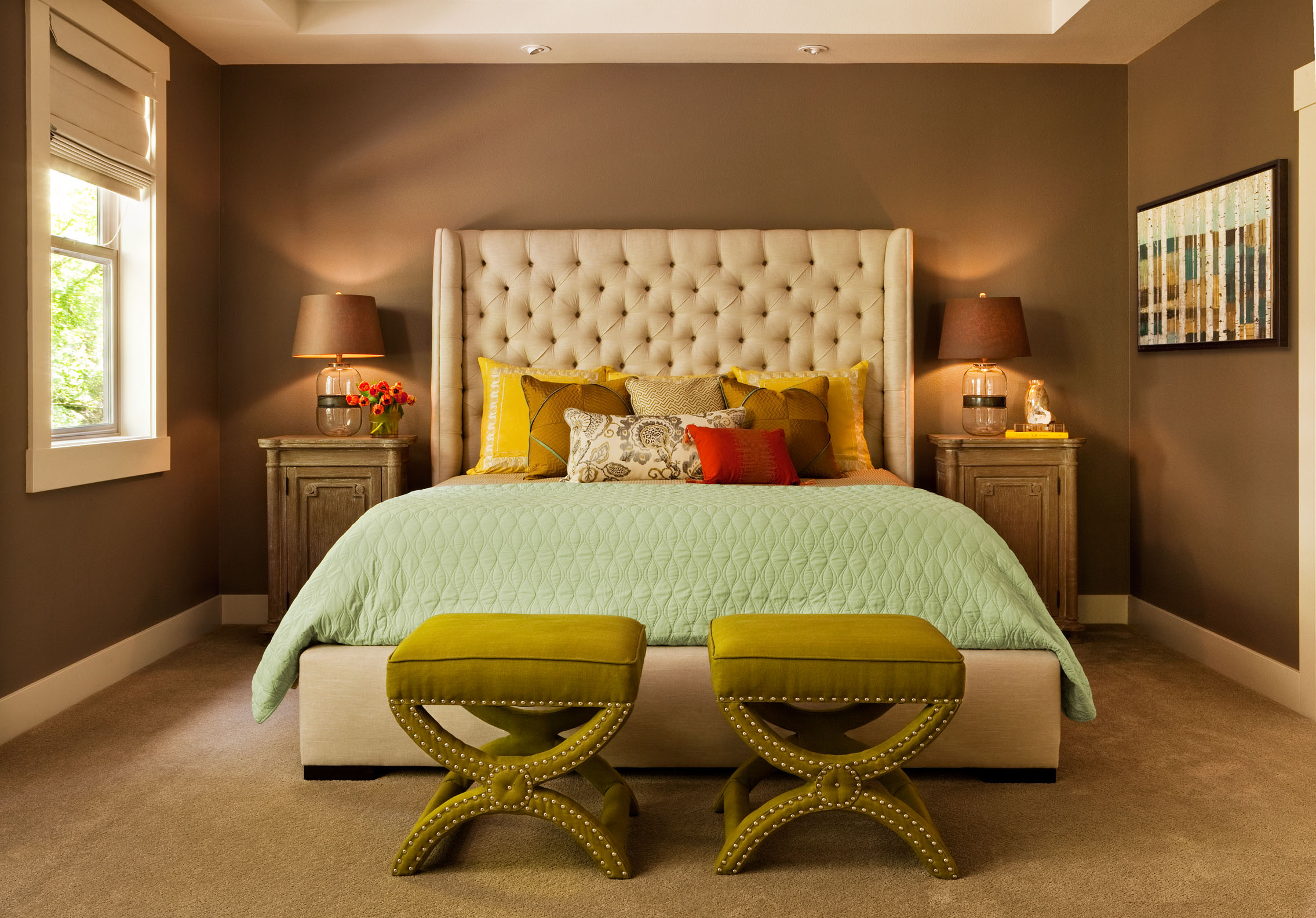 bedrooms with some color, deisgning a room with a neutral palette, the best designed master suites
