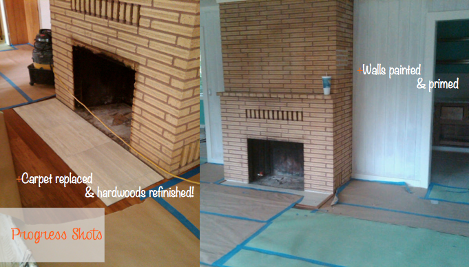 how to make your fireplace look more modern, cleaning up a fireplace, placing tile over your dated brick fireplace