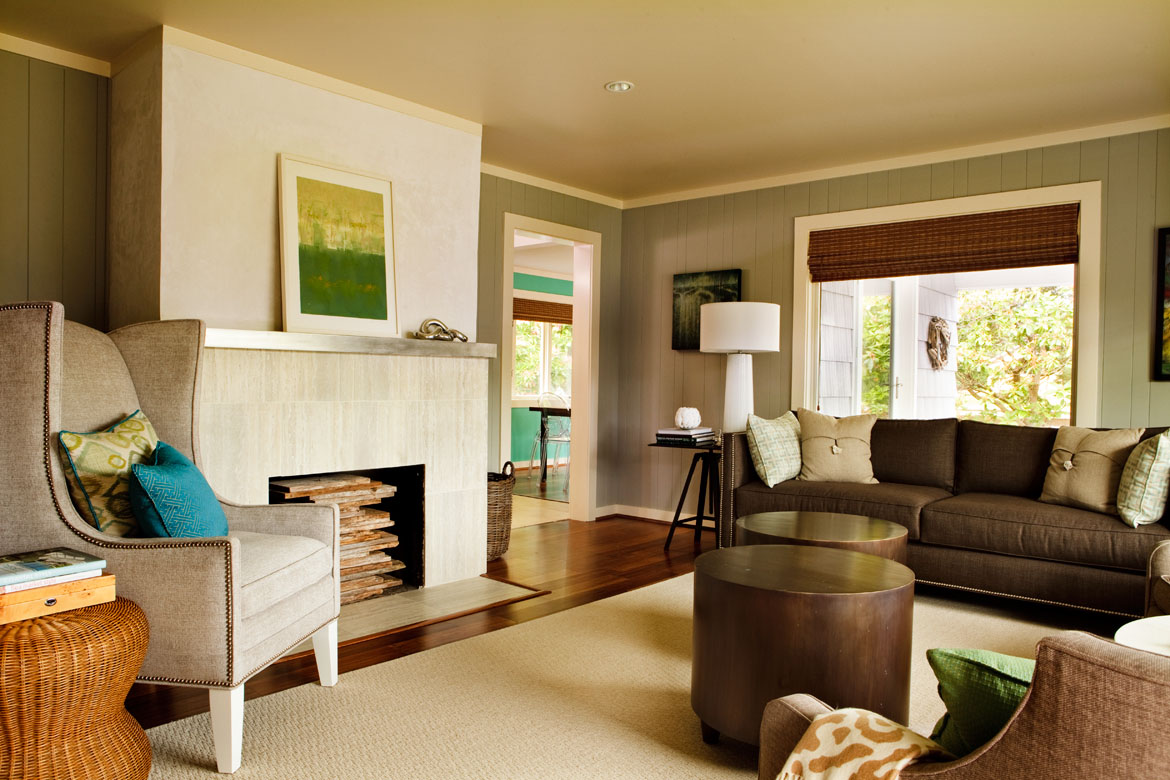 after a living room makeover, a contemporary beach house, calming beach house interior design