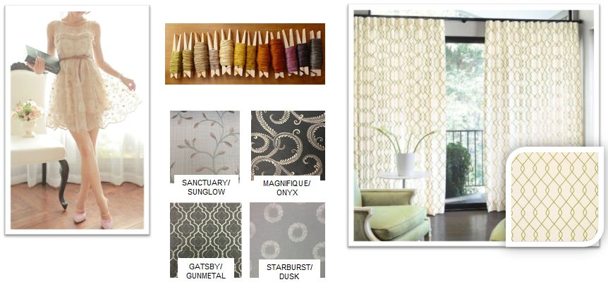 hand stitched curtains, windows treatments that are stitched, detailed window treatments