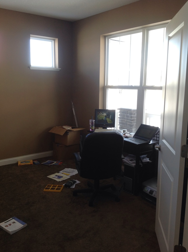 before a decorated home office is made over, dream room makeover winner, what an unprofessionally designed space looks like