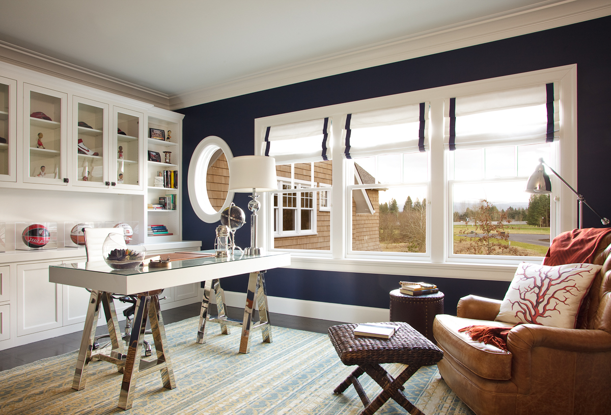 pacific northwest interior designer, window treatments for nautical themed spaces, window coverings for home offices