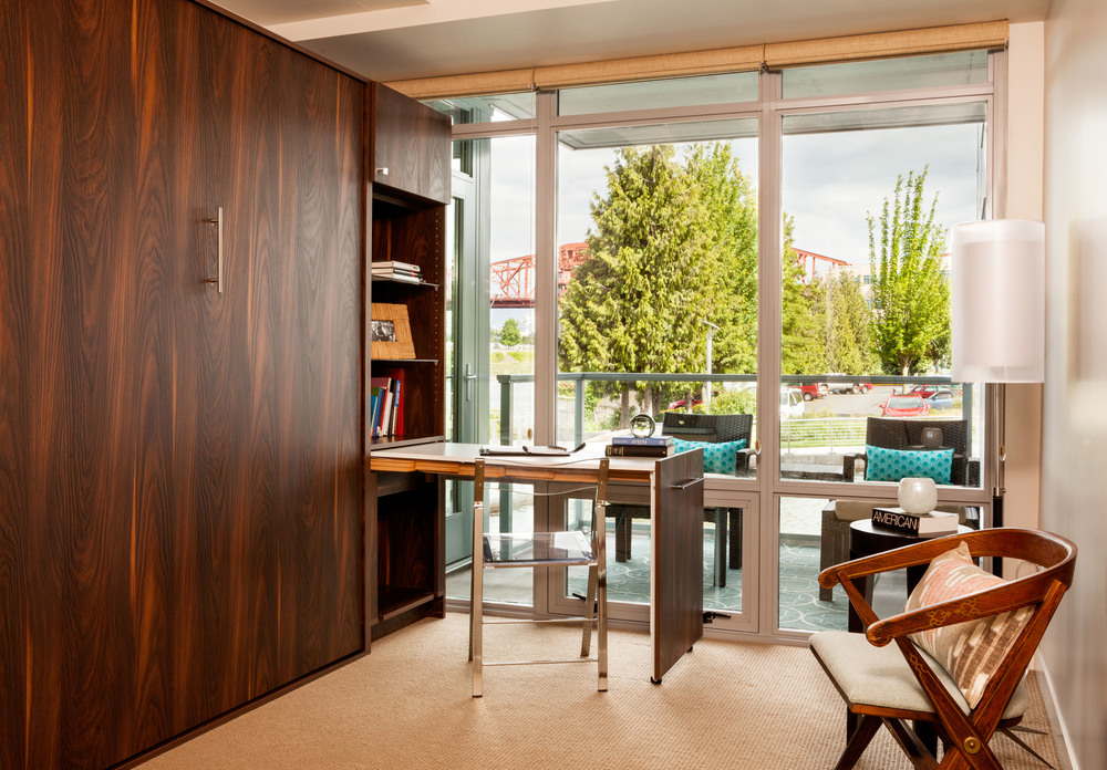 optimized-space-home-office-organized-home-office-Portland-Condo-Disappearing-desk-home-office-solutions-inspiration
