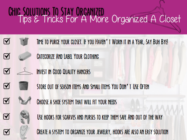 checklist for a more organized closet, solutions for spring cleaning, spring cleaning tasks