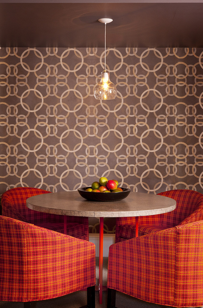 geometric wallpaper, geometric painted walls, hand painted wall art