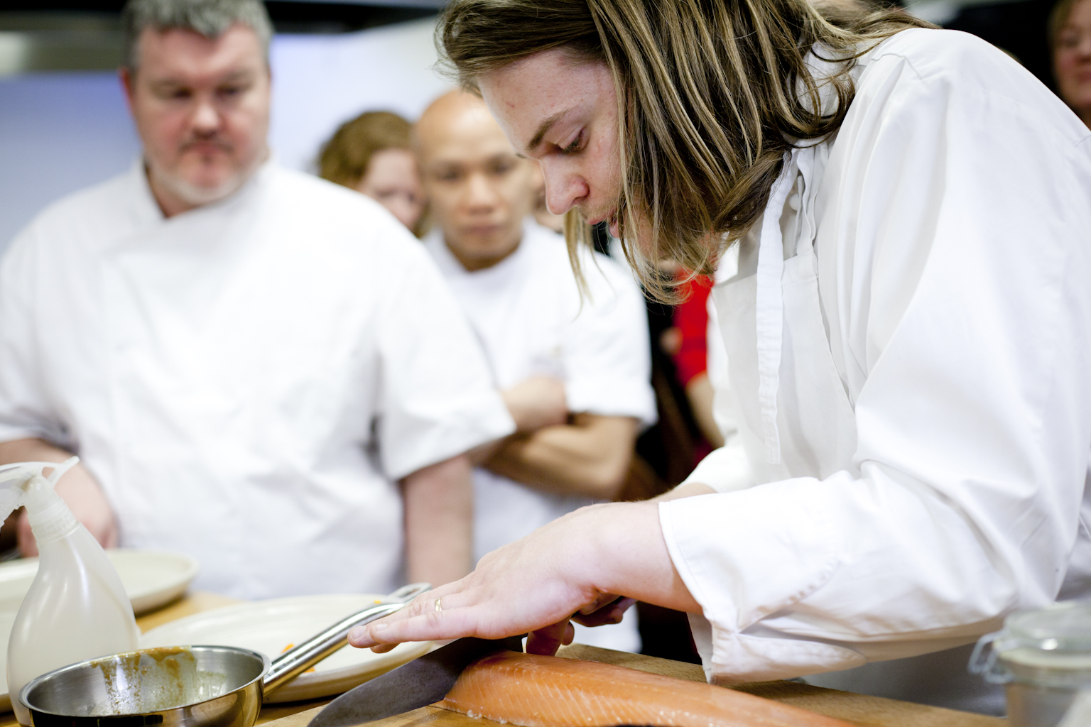 cooking event with well-known chefs, electrolux chefs, great kitchen appliances