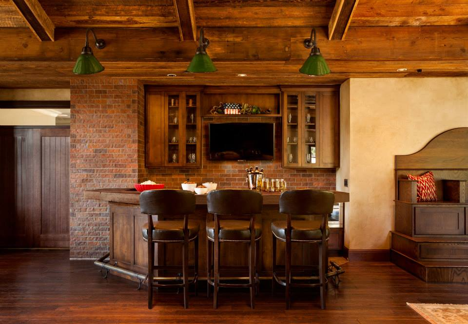 Father 39 S Day Inspired Interiors Masculine At Home Bar Interior Design Id