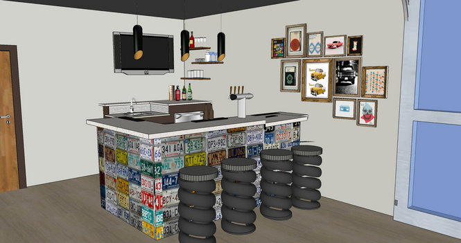 custom designed man cave, father's day dream room makeover, great ideas for a masculine bar