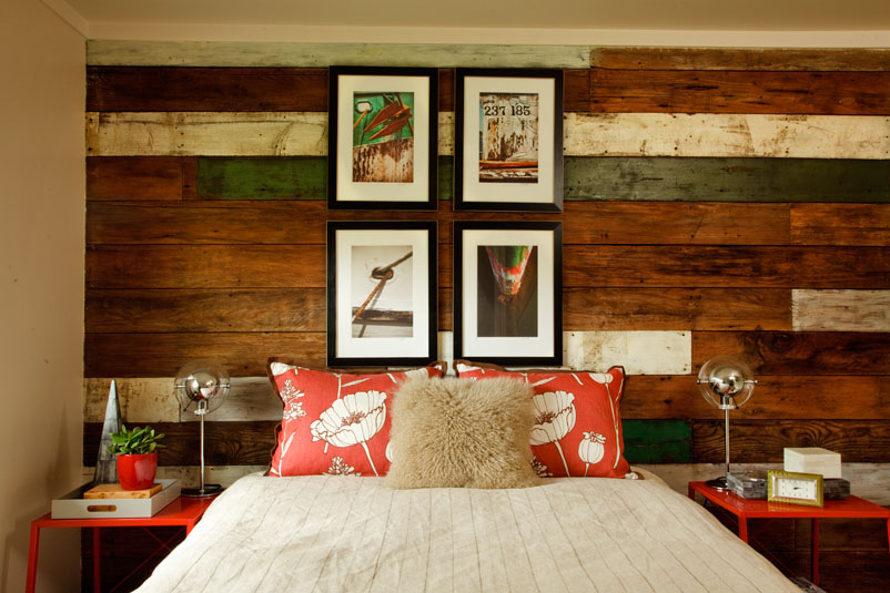 quant beach house, ways to use reclaimed wood, interior designer's bed