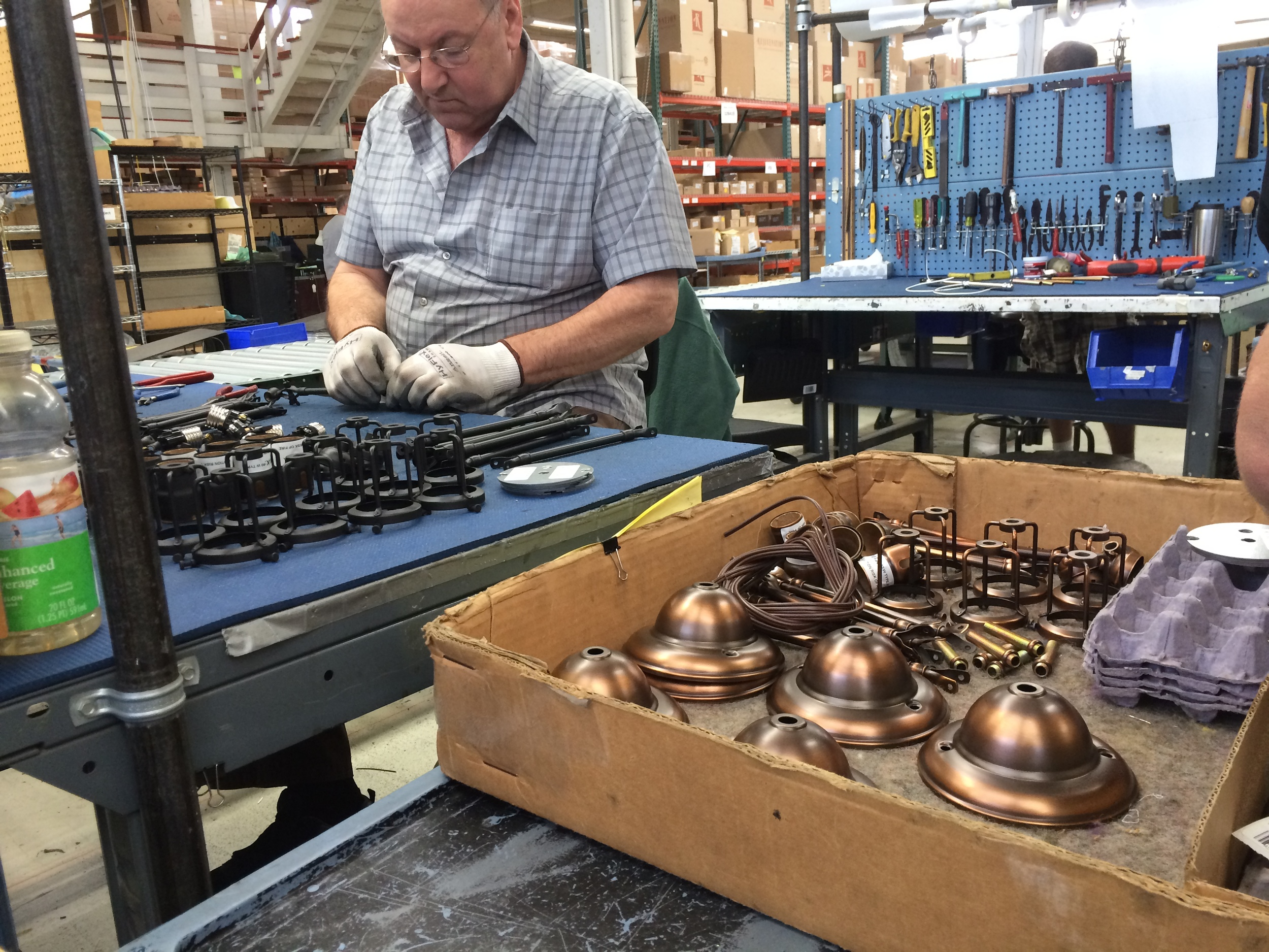 rejuvenation factory tour, american made fixtures, hand crafter fixtures in portland