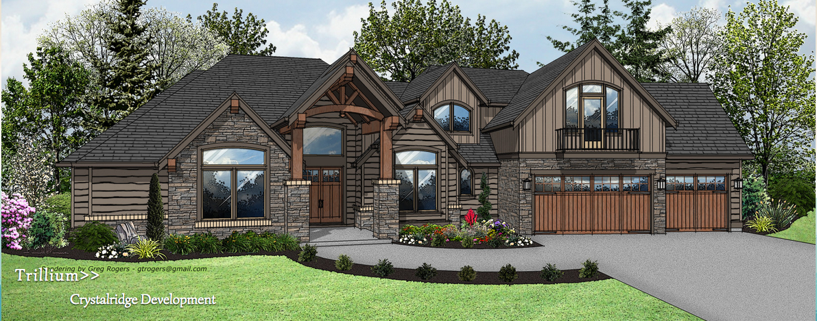 house rendering, street of dreams 2014, crystalridge development