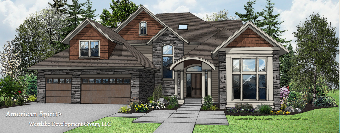 home rendering, street of dreams, westlake development