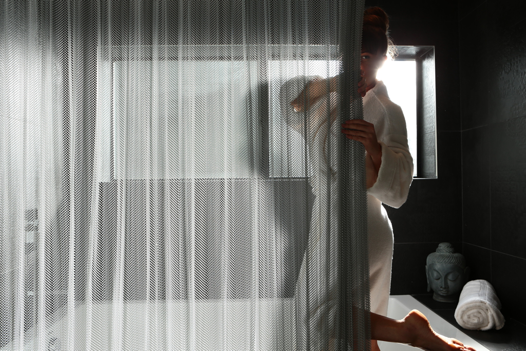 high-end shower curtains, best industrial inspired shower curtains, customizable shower curtains
