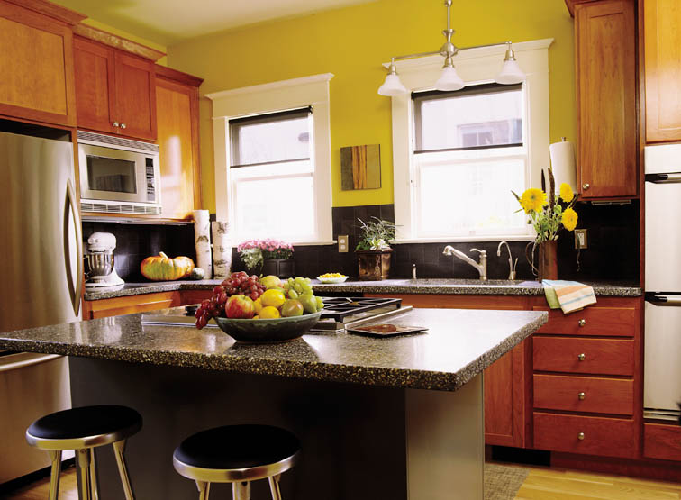 yellow kitchen paint, using yellow to improve your mood, mood and colors