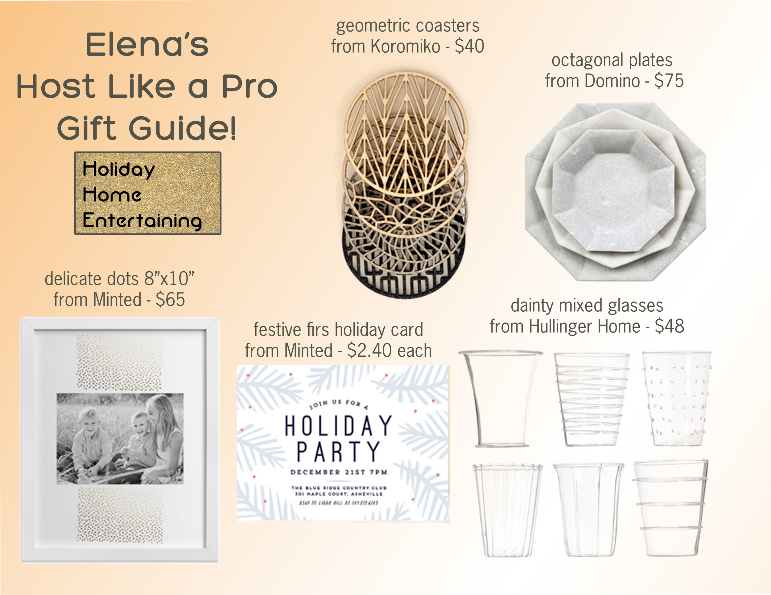 host like a pro, holiday gift guide, designer gift guide