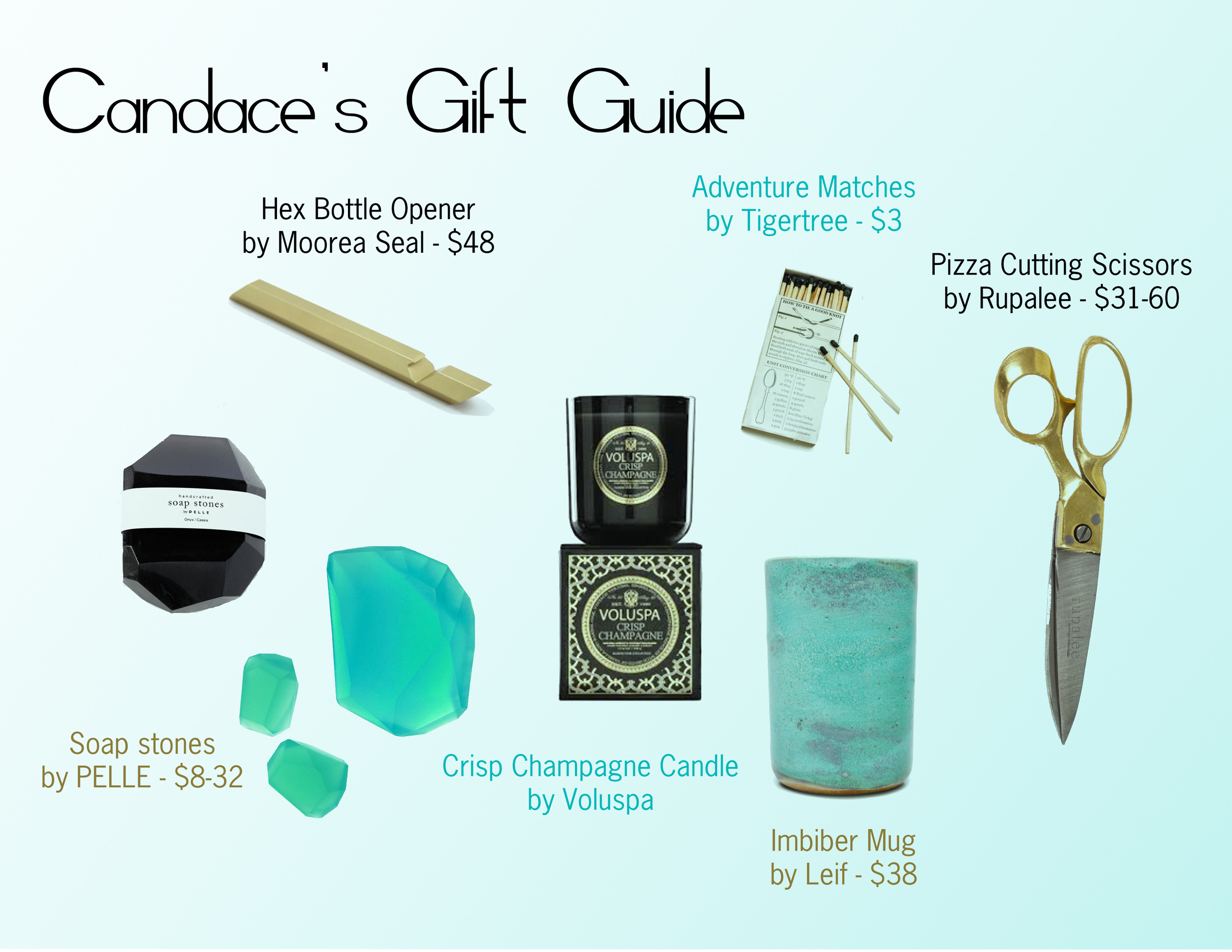 designer gift guide, holiday gift guide, candles and soap