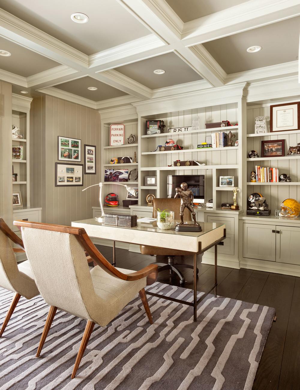Garrison Hullinger Interior Design Home Office Organized