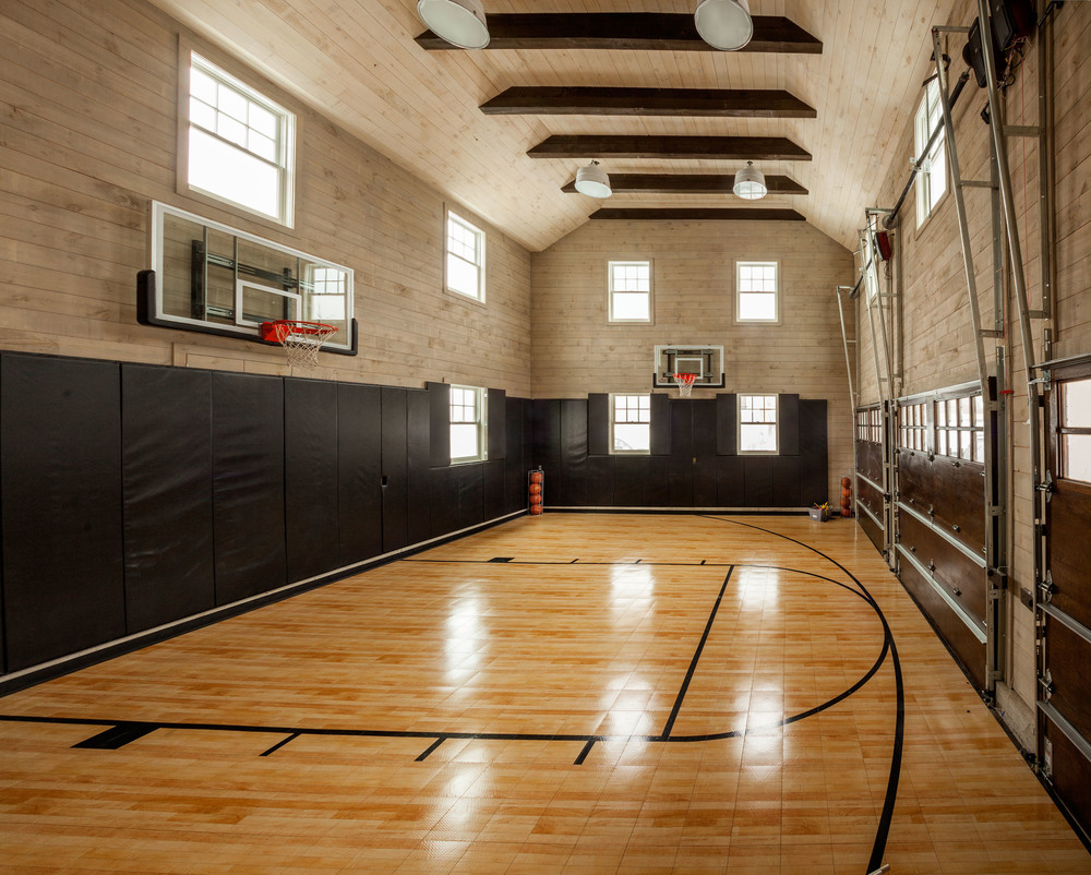 New canaan garrison hullinger interior design for Basketball garage