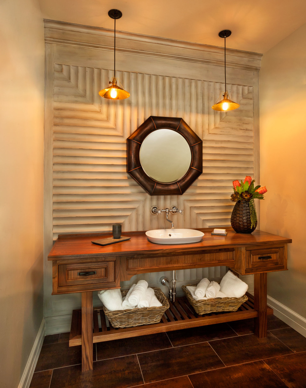 American Spirit Powder Room Vanity